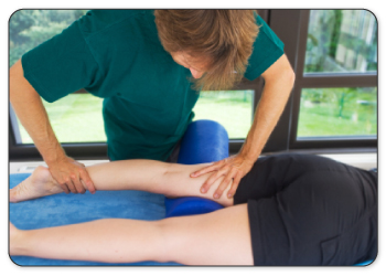 Physical therapists will warm up your muscle by performing deep tissue massage.