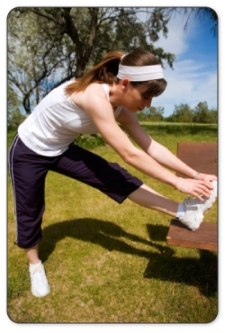 Stretching the hamstring muscle before and after activity improves flexibility.