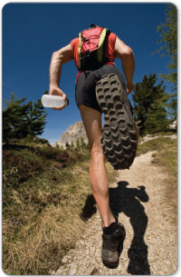 Running uphill or over training without conditions can lead to shin splints.